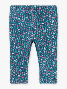 Baby Mädchen Ente blau Leggings mit blumigen Druck BAGLADYS / 21H4BF91CAL714
