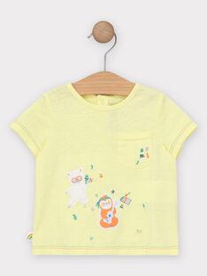 Kurzärmeliges T-Shirt, gelb TAGINO / 20E1BGG1TMC102