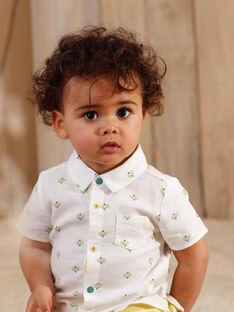 Ecru Baby Junge Shirt ZAMARCEL / 21E1BGO1CHM001