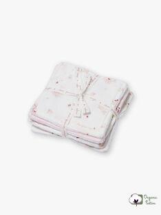 6 rosa und weiße Tücher Geburt Mädchen BOZENA / 21H0AF41ACD301