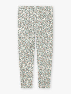 Mädchen Ecru Blume drucken Leggings BLAGONETTE / 21H4PFO1CAL001