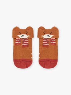Socken für Baby Junge mit braunem Fuchs BALANCELOT / 21H4BGJ1SOQ809