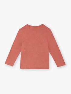 Ziegelrotes langärmeliges T-Shirt für Jungen ZECRIAGE / 21E3PGB1TML506