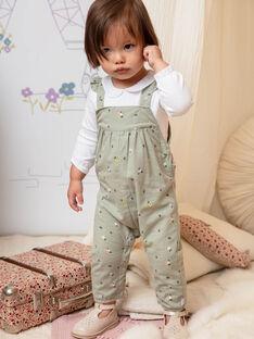 Baby-Mädchen-Overall in Khaki mit Blumendruck BACHARLENE / 21H1BF21SAL604