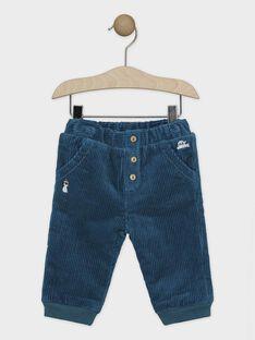 Blaugrüne Baby-Hose für Jungen SATERANCE / 19H1BGN2PAN210