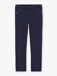 Marineblaue Hose für Mädchen BROSAETTE1 / 21H2PFB3PANC214