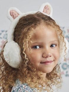 Kind Mädchen weiße Bärenohrenschützer BLAORETTE / 21H4PFO1ACD001