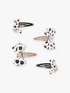 Satz von 4 sortierten Dalmatiner und Bögen Haarspangen für Mädchen BINOUETTE / 21H4PFSABRT090