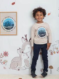 Baby Boy dunkelblaue Jeans mit Gürtel BIDISAGE / 21H3PGJ1JEAP270
