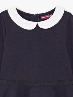 Langärmeliges Kleid für Mädchen mit Claudine-Kragen BROCOLETTE1 / 21H2PFB4ROBC214