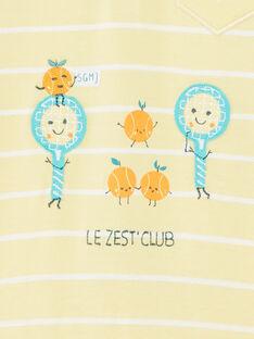 Baby Junge Zitrone gelb gestreiften Overall ZAMATHEO / 21E1BGO1CBLB104