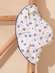 Weißer Hut mit blauem floralem Muster Kind Mädchen ZAIFAETTE / 21E4PFR1CHA001