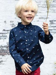 Baby Boy Langarm Nacht blau Shirt BABLIAGE / 21H3PG11CHM720