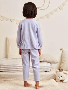 Lavendelfarbenes Pyjama-Set für Mädchen mit Fantasiemotiv BEBACIETTE / 21H5PF72PYJ326