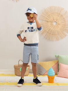 Strick-Sweatshirt für Jungen, beige TIEFLAGE / 20E3PGO1SWE001