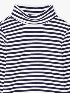 Marineblau und weiß gestreifte Unterhosen für Jungen BUZOZAGE2 / 21H3PGF3SPL705