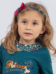 Blaues Stirnband für Mädchen mit Karo und Schleife BUMATETTE / 21H4PFS5TET714