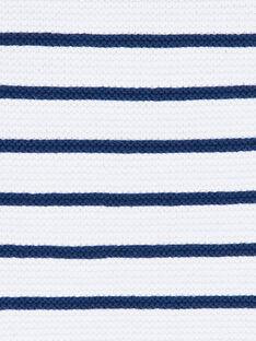 Weiß und marineblau gestreifter Strickpullover ZAIYN / 21E1BGI1PUL001