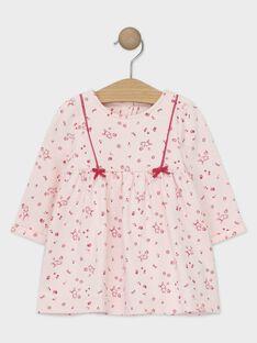 Langärmeliges Baby-Kleid für Mädchen, blassrosa TADARLA / 20E1BFC1ROB301