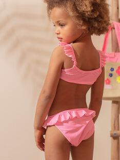 2-teiliger Badeanzug rosa fluo Kind Mädchen ZAIDUETTE / 21E4PFR2D4LD311
