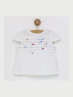 Kurzärmeliges T-Shirt ecru RAMADINE / 19E1BFE1TMC001