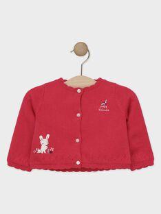 Baby-Cardigan für Mädchen, fuchsienrot TADELPHINE / 20E1BFC1CAR304