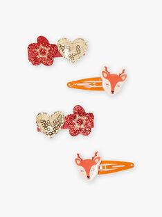 Set aus 4 passenden Hirsch-, Blumen- und Herz-Anhängern für Mädchen BULUCETTE / 21H4PFS6BRTE406