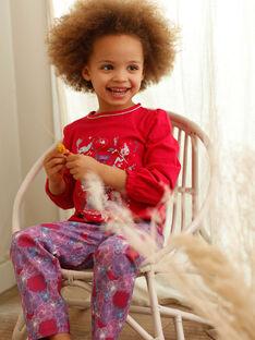Fuchsia-Pyjama-Kind Mädchen ZEMARETTE / 21E5PF11PYJ304