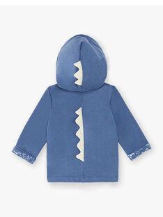 Kapuzenpullover blauer Enzian Baby Jungen Kapuzenpullover ZAEMIL / 21E1BGB1JGHC230
