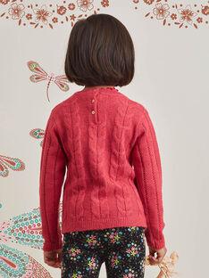 Rosa langärmeliger Strickpullover für Baby-Mädchen BRIPUETTE / 21H2PFM1PUL308
