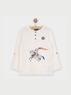 Weißes langärmeliges T-Shirt RABESAGE / 19E3PG41TML001