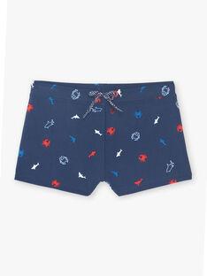 Marineblaue Badeshorts für Jungen ZYPLAGE / 21E4PGR5MAIC214