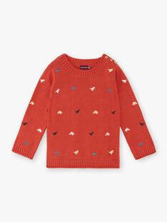 Ziegelroter Pullover Junge Bub Kind ZEBLAGE / 21E3PGB1PUL506