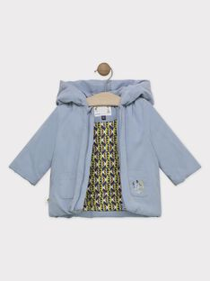 Parka Baby Junge blaugrau SIPAULIN / 19H1BGF1PAR205