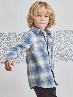 Blaues Schottenmuster für Jungen BOPLOAGE / 21H3PGO1CHMC233