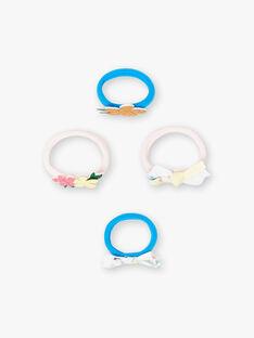 Set aus 4 sortierten Gummibändern für Kinder und Mädchen ZYELETTE / 21E4PF82ELA321