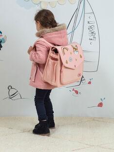Rosa Schulranzen mit Fantasiemotiven Kind Mädchen BAZINETTE / 21H4PF53BES310