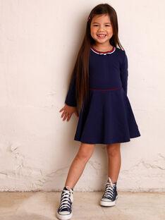 Marineblaues Kleid für Mädchen ZLOMETTE1 / 21E2PFK3ROBC214