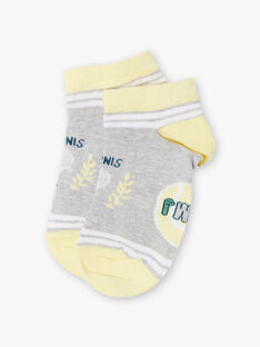 Socken in Heidekrautgrau und Gelb ZETRAGE / 21E4PGO1SOBJ920
