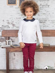 Burgunderfarbene Hose für Mädchen BROSAETTE2 / 21H2PFB1PAN719