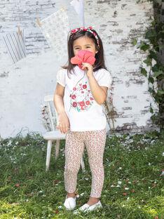 Child girl's flower print legging BAZEGETTE / 21H4PF11CAL001