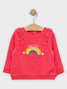 Baby-Sweatshirt für Mädchen mit Regenbogen TAIRIS / 20E1BFG1PUL302