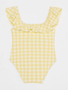 Badeanzug in Vichykaro für kleine Mädchen TIDUETTE / 20E4PFI1D4K010