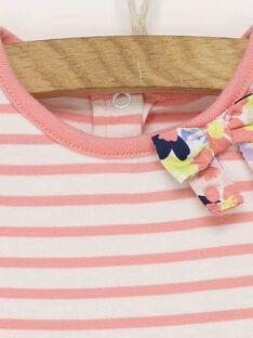 Weiß-rosa Kleid RAISABEL / 19E1BFD1ROB001