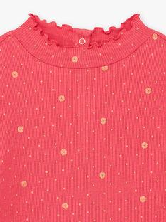 Langärmeliger rosa-goldener Unterziehpullover für Mädchen BRISOPETTE1 / 21H2PFM1SPL308