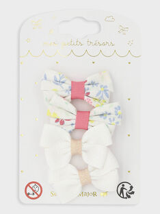 Set mit 4 Haarspangen mit kleinen Schleifen für besondere Anlässe für kleine Mädchen TYKOKETTE / 20E4PFKABRT321