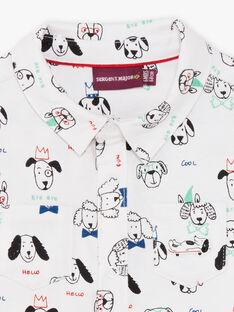 Baby Boy's Black and White Dog Print Shirt BABLAISE / 21H1BG11CHM001