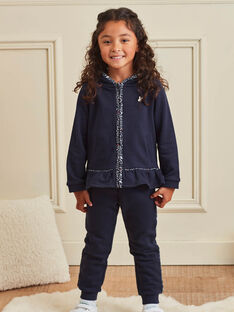 Baby Mädchen navy blau Jogginganzug mit gedruckten Details BROJAETTE / 21H2PFF1JGB070