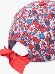 Mütze mit blauem und rotem Blumenmuster für Kinder und Mädchen ZAINOETTE / 21E4PFR2CHA020