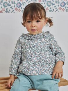 Bluse mit Rüschenkragen für Mädchen mit Blumendruck BAORIA / 21H1BFO1CHE001